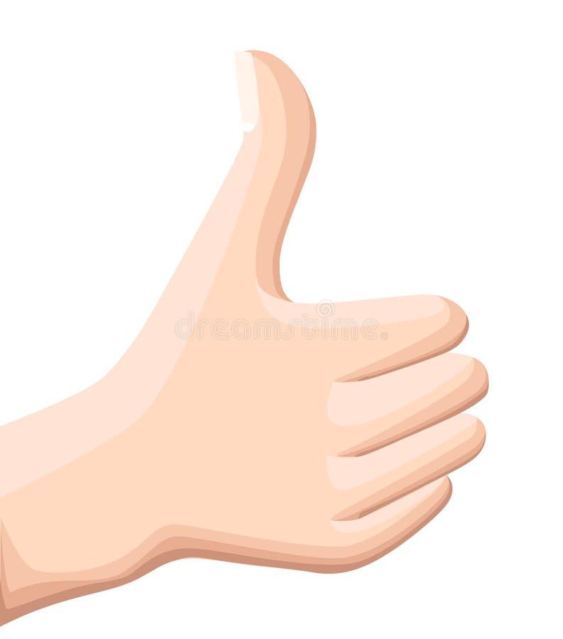 Вектор thumbs вверх по значку Плоские большие пальцы руки поднимают значок Плоская иллюстрация дизайна для знамени сети, сети и п иллюстрация штока