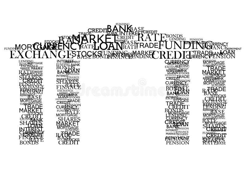 вектор typography банка иллюстрация штока