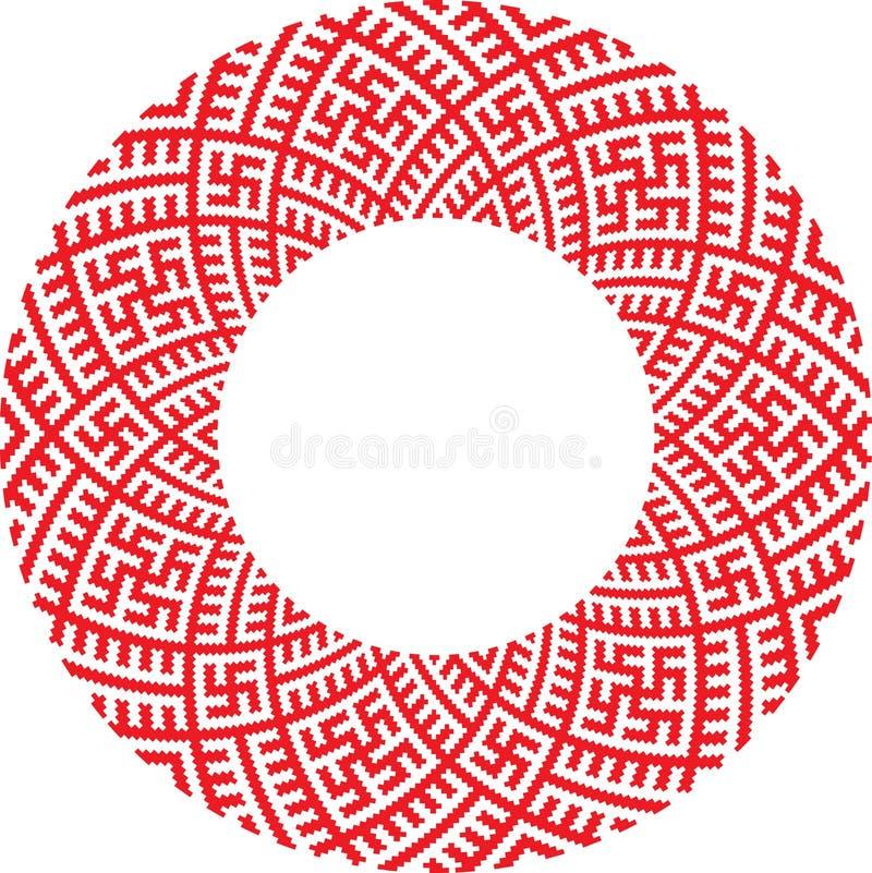 вектор ukrainian орнамента иллюстрация вектора