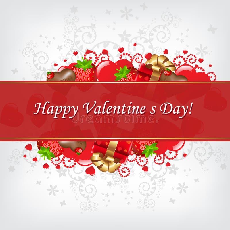 вектор valentines дня карточки иллюстрация штока