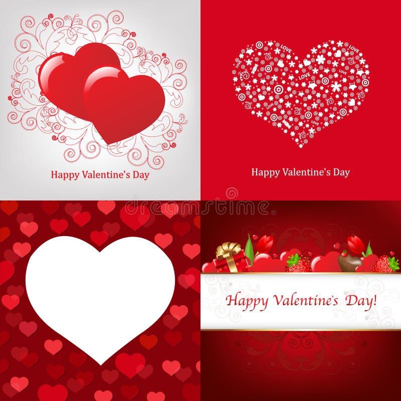 вектор valentines дня карточки иллюстрация вектора