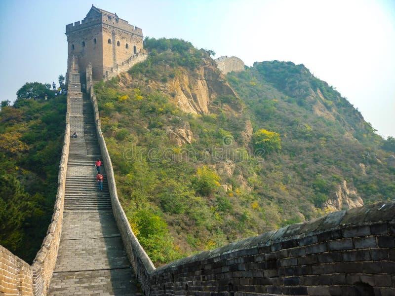 Великая Китайская Стена Китая на Jinshanling, Пекине стоковые фотографии rf