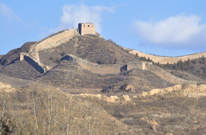 Великая Китайская Стена фарфора Пекин стоковая фотография