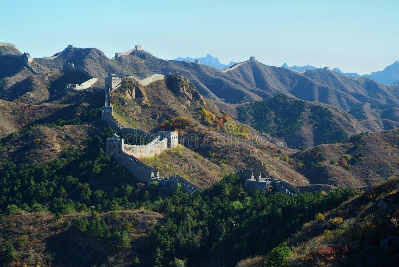 Великая Китайская Стена фарфора Пекин стоковые фото