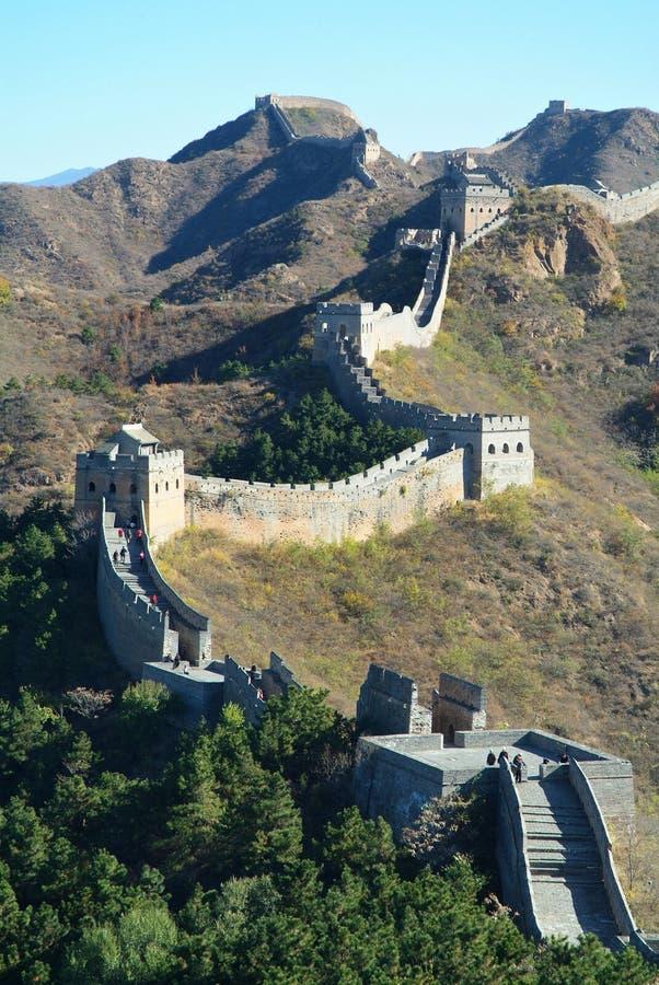 Великая Китайская Стена фарфора Пекин стоковые фотографии rf