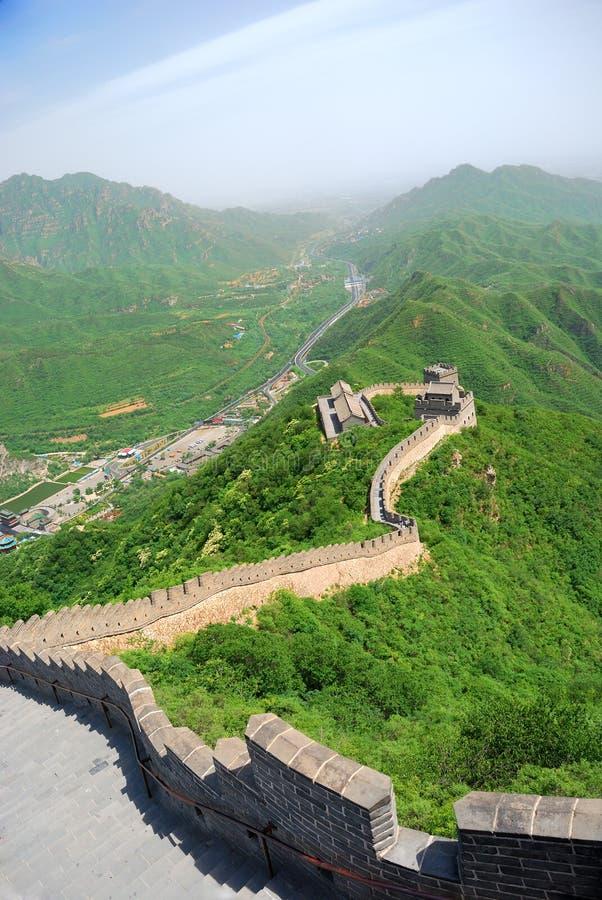 Download Великая Китайская Стена фарфора Стоковое Фото - изображение насчитывающей ведущего, историческо: 6859200