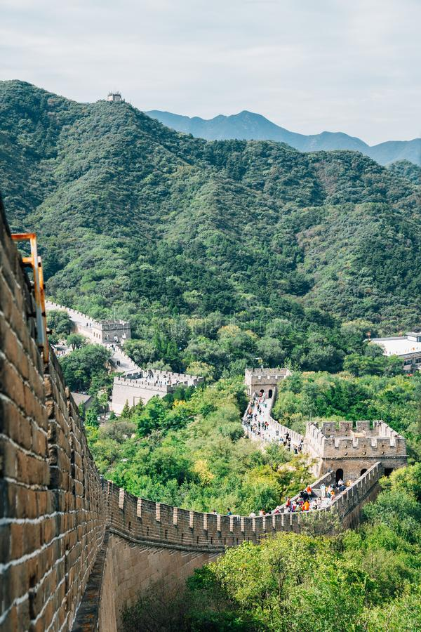 Великая стена в Пекине, Китай стоковое фото rf