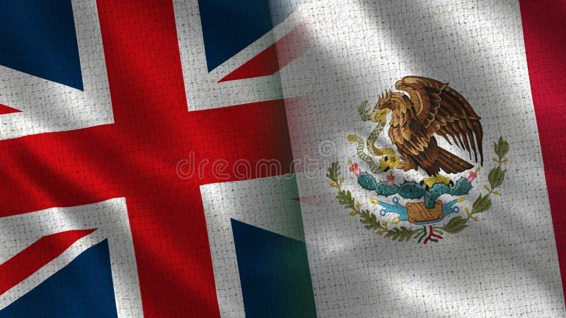Великобритания и Мексика стоковое изображение
