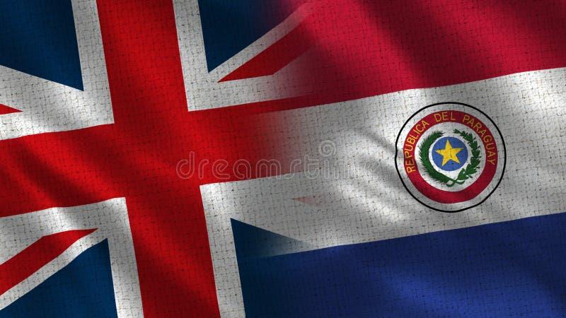 Великобритания и Парагвай стоковые изображения rf