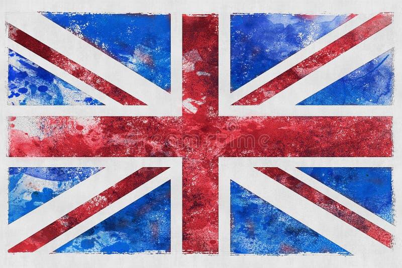 Великобританская иллюстрация Юниона Джек флага стоковые фотографии rf
