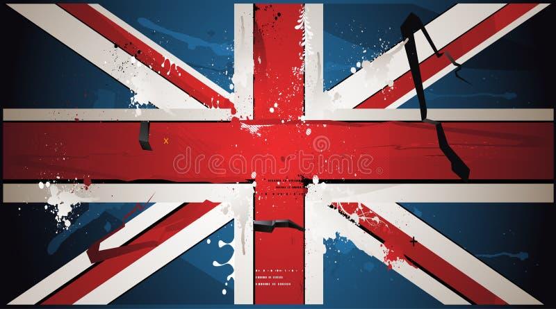великобританская нарисованная краска флага бесплатная иллюстрация