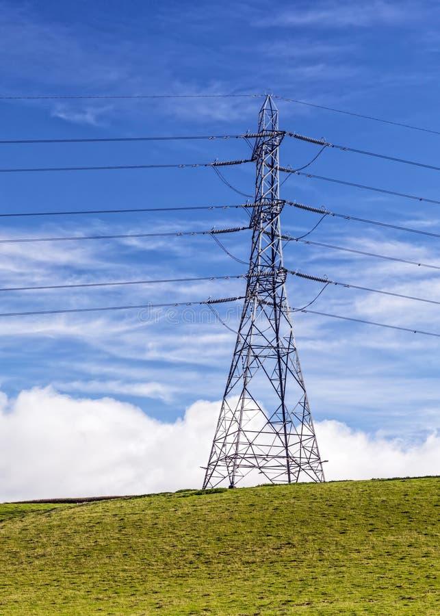 Великобританская национальная опора электричества решетки стоковые фотографии rf