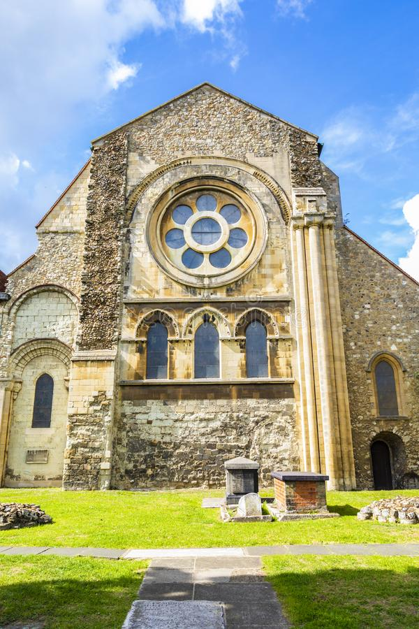 Великобританская церковь ориентир ориентира городка аббатства Waltham стоковое изображение
