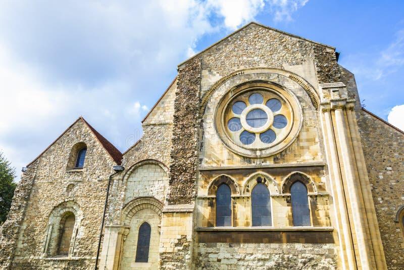 Великобританская церковь ориентир ориентира городка аббатства Waltham стоковая фотография