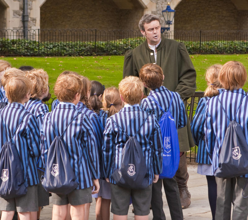 великобританская школа детей стоковое изображение