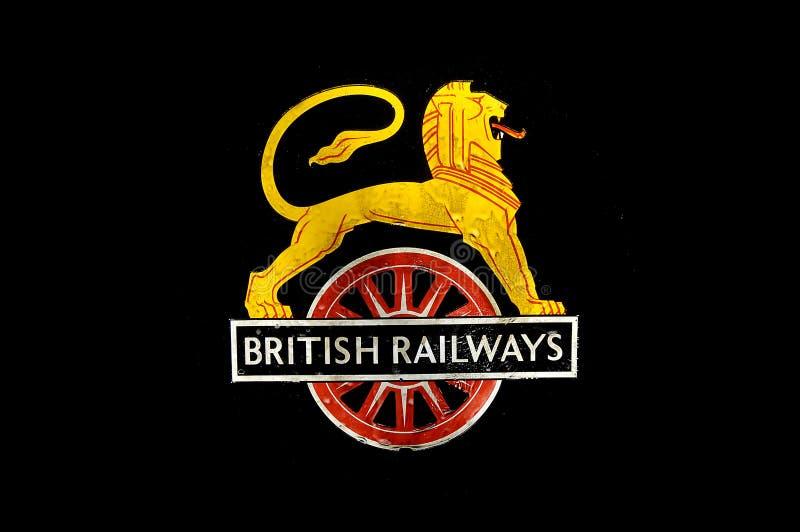 великобританские железные дороги логоса стоковая фотография