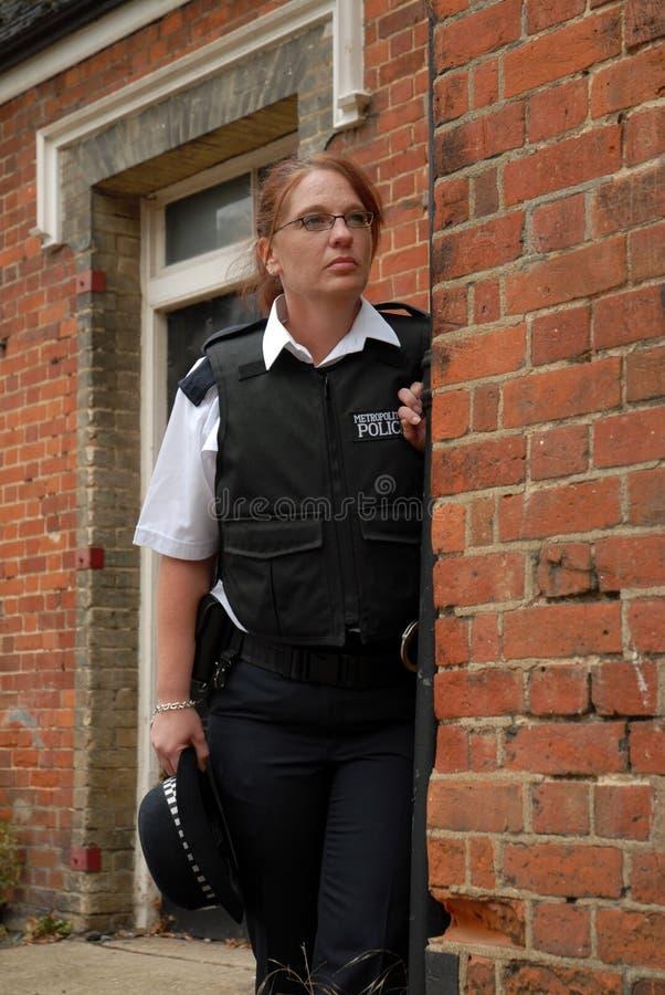 великобританские полиции офицера стоковое изображение