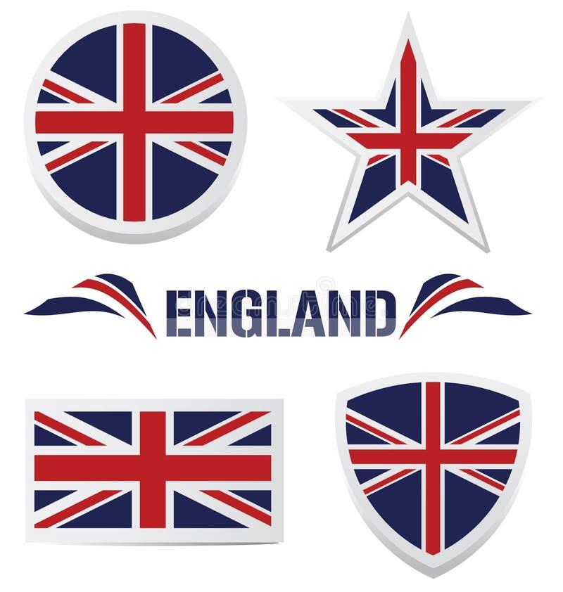 великобританские установленные иконы иллюстрация вектора