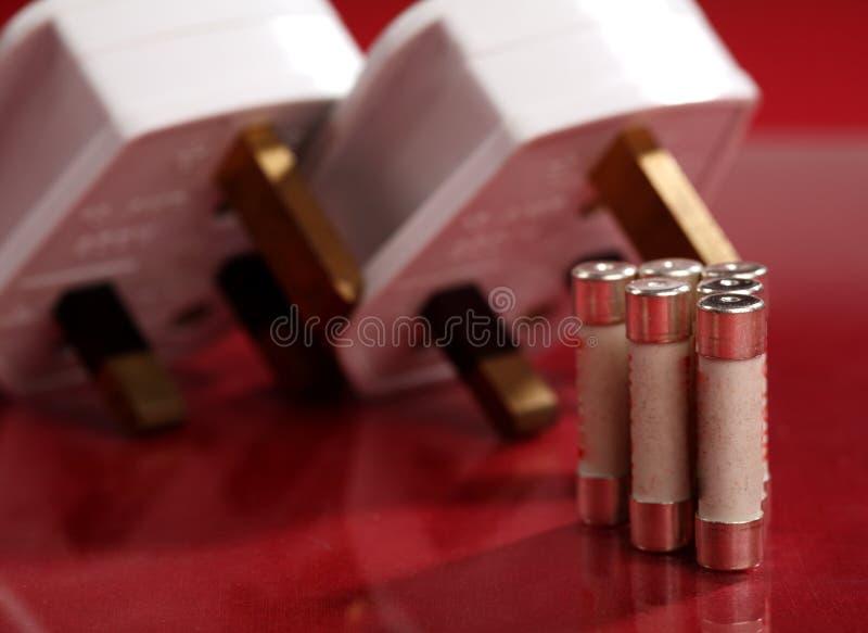 великобританские электрические штепсельные вилки стоковые изображения rf