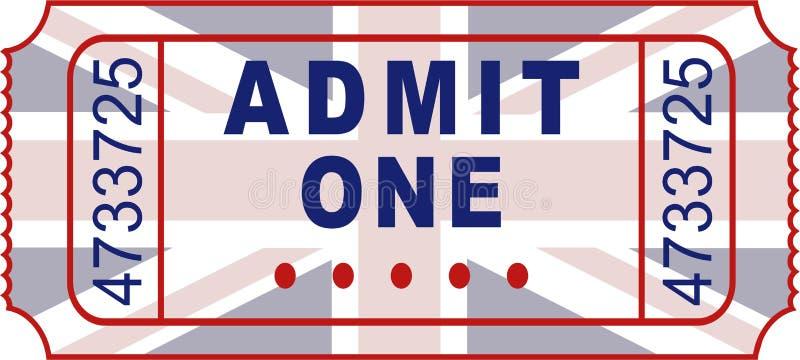 великобританский билет иллюстрация вектора