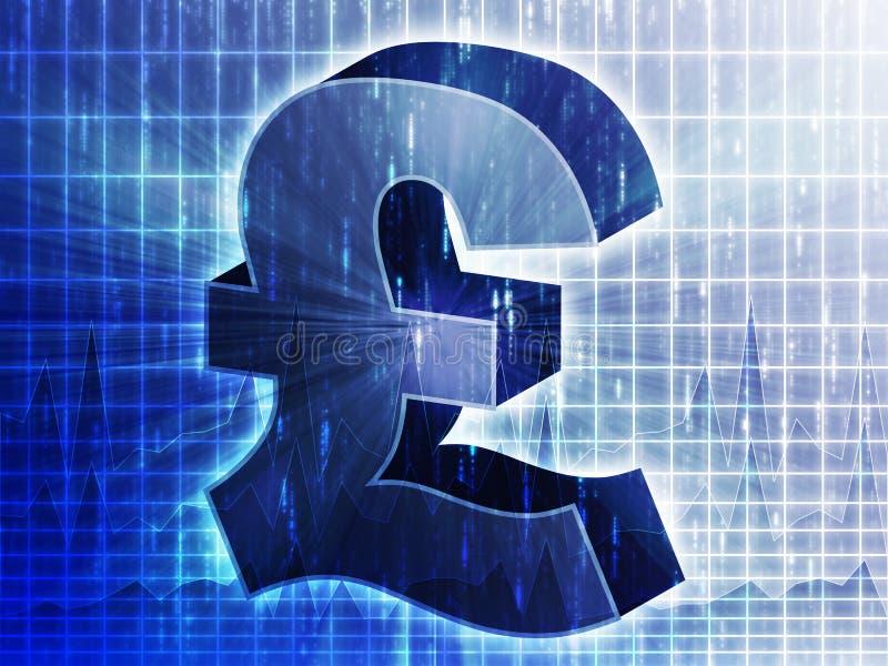 великобританский фунт валюты диаграммы иллюстрация вектора