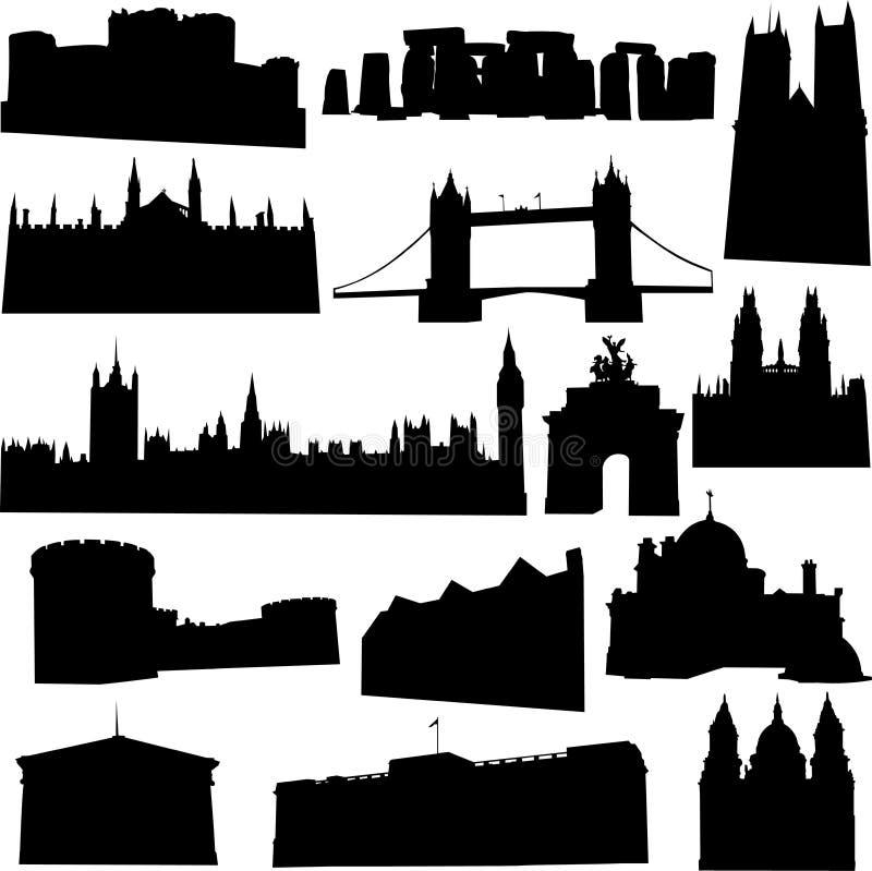великобританское здание известное наилучшим образом иллюстрация вектора
