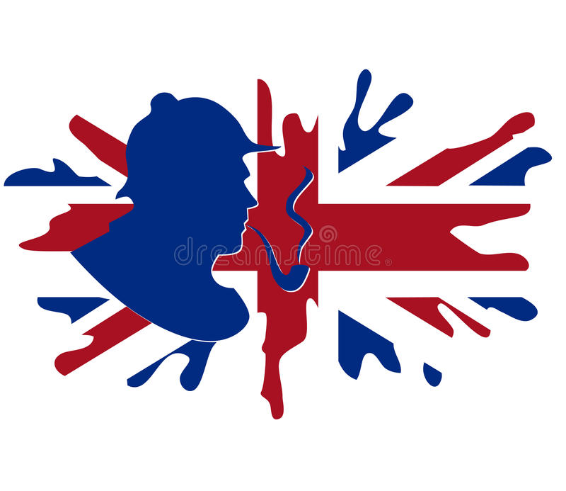 великобританское shorlock флага иллюстрация вектора