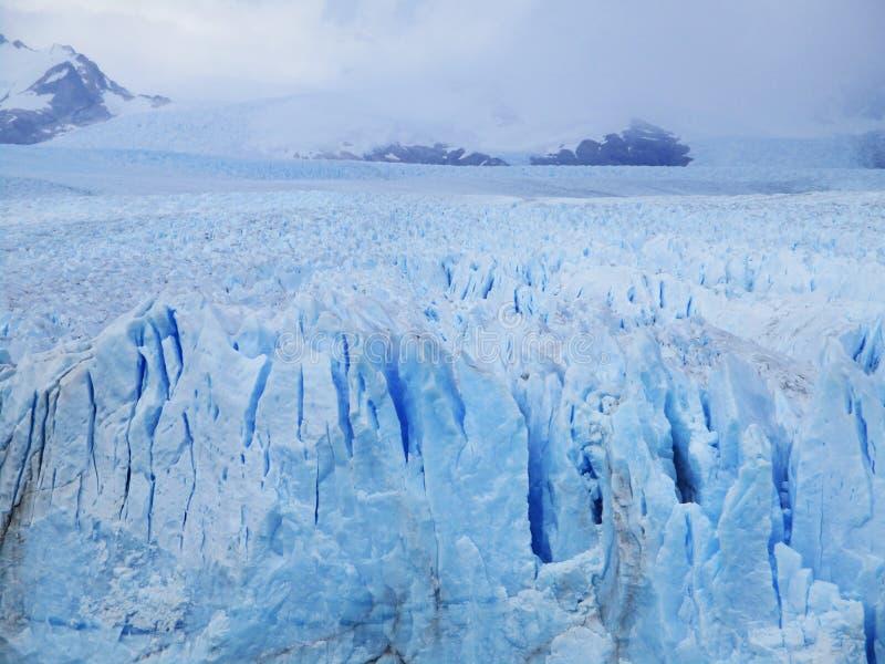 Великолепный взгляд Glaciar Perito Moreno, Calafate Аргентина стоковое изображение rf