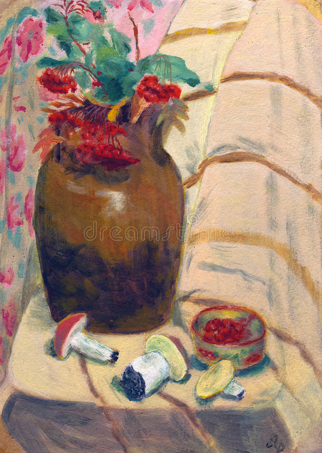 величает ваза rowanberry стоковое фото