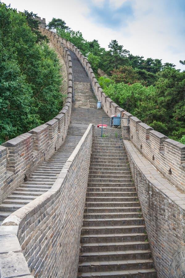 Величественная Великая Китайская Стена, Пекин, Китай стоковые изображения rf