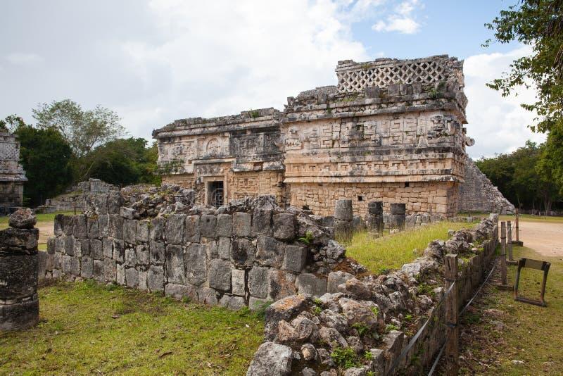 Величественные майяские руины в Chichen Itza, Мексике стоковые фотографии rf