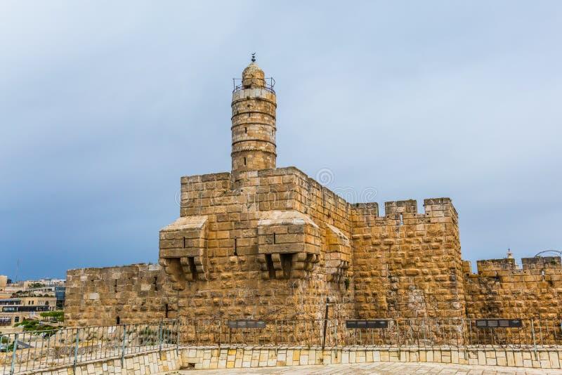 Величественные стены старого Иерусалима стоковые фотографии rf