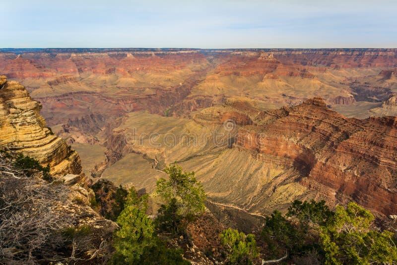 Величественный гранд-каньон, Аризона, Соединенные Штаты стоковое изображение rf