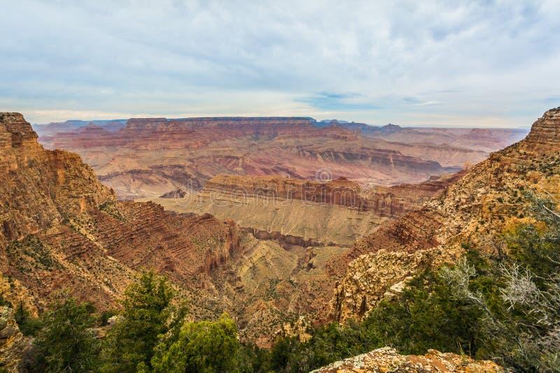 Величественный гранд-каньон, Аризона, Соединенные Штаты стоковая фотография rf
