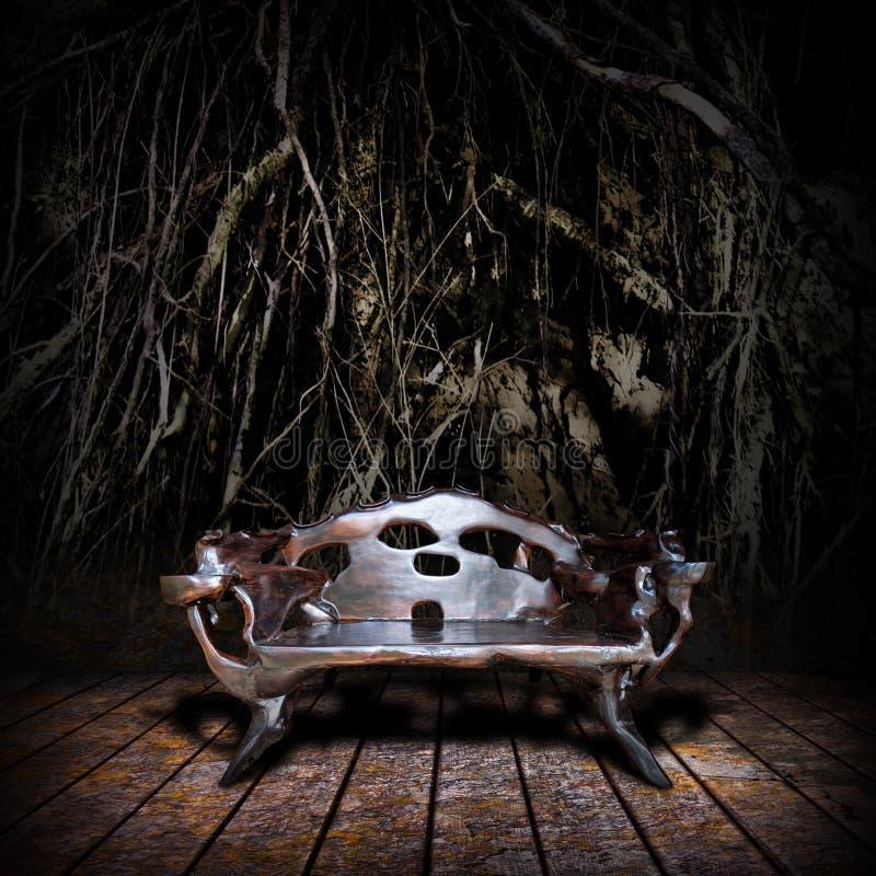 величественный трон деревянный стоковое фото rf