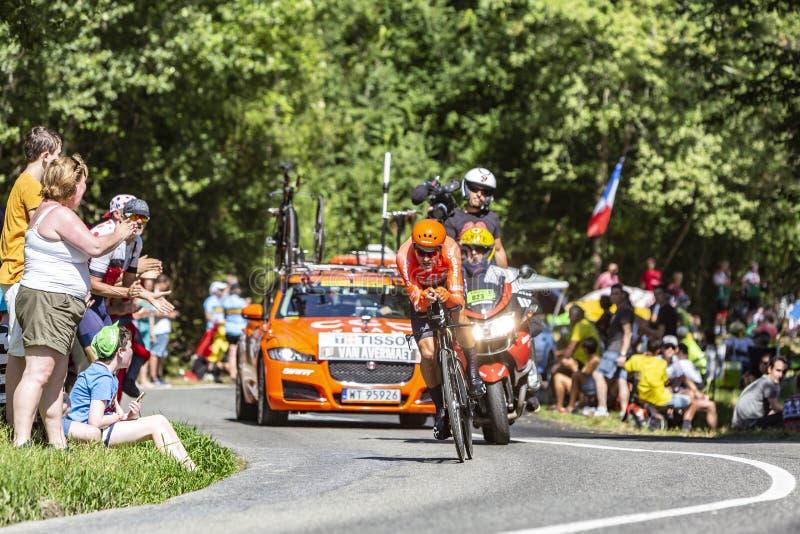 Велогонщик Грег Ван Авермает - Тур де Франс 2019 стоковые фото