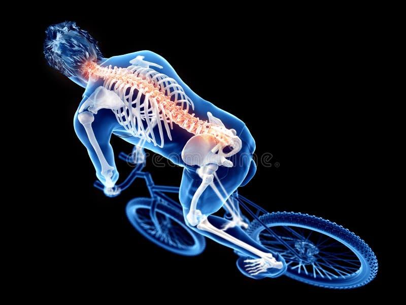 велосипедисты иллюстрация вектора
