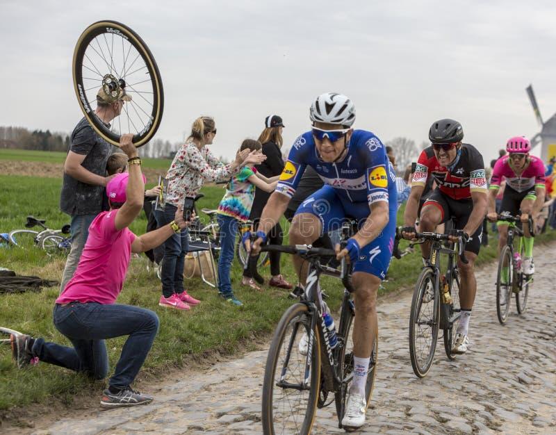 Велосипедист Грег Van Avermaet - Париж-Roubaix 2018 стоковые изображения