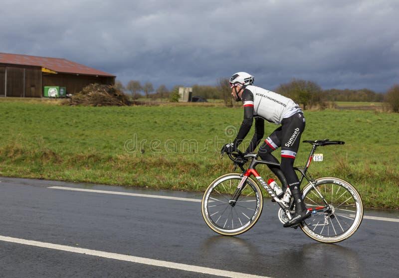 Велосипедист Рой Curvers - Париж-славное 2017 стоковое изображение rf