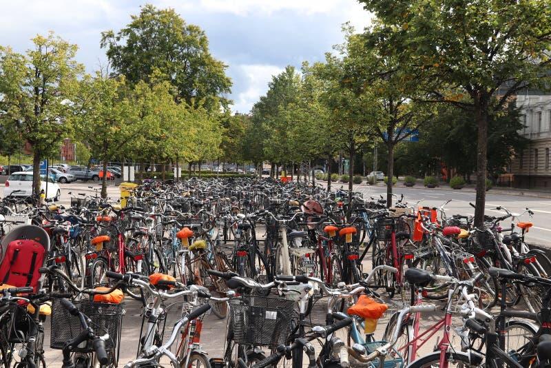 Велосипедная стояанка стоковая фотография