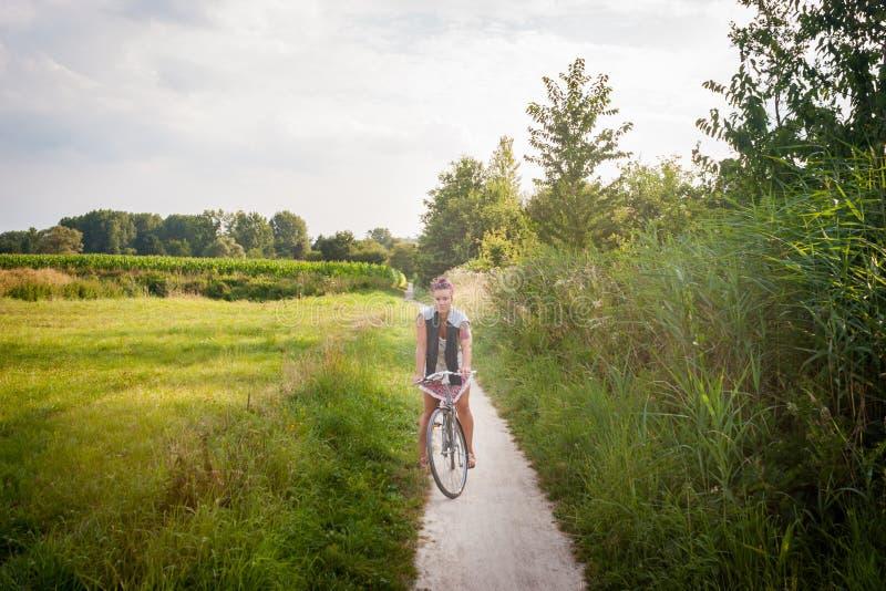 Велосипед в бельгийской сельской местности стоковая фотография rf