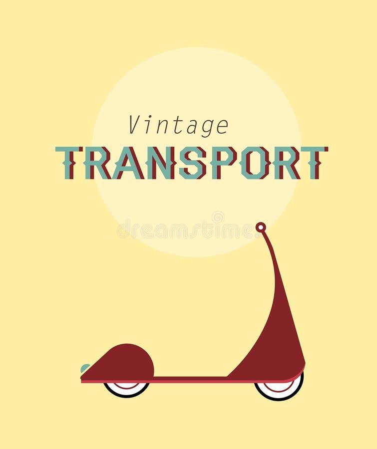 Велосипед год сбора винограда иллюстрация вектора
