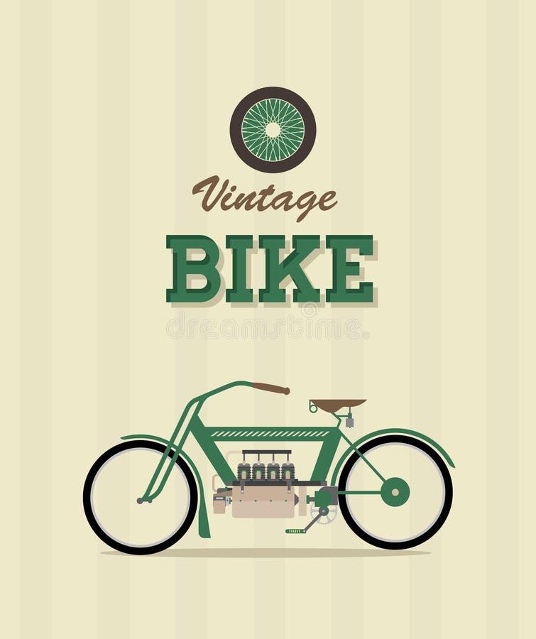 Велосипед год сбора винограда иллюстрация штока
