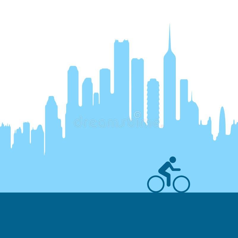 велосипед город бесплатная иллюстрация