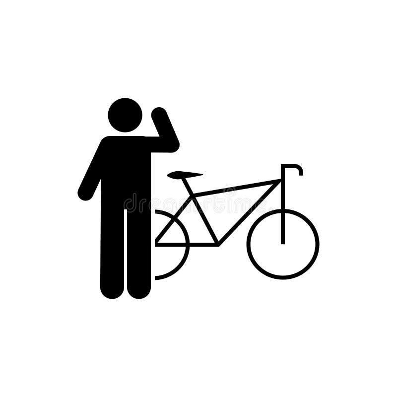 Велосипед, значок человека Элемент человека со случайным значком объекта r r иллюстрация вектора