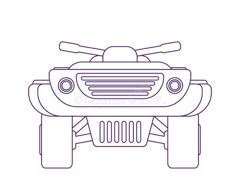 Велосипед квада Atv Иллюстрация вектора вид спереди иллюстрация штока