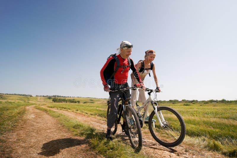 велосипед ослабляет стоковая фотография