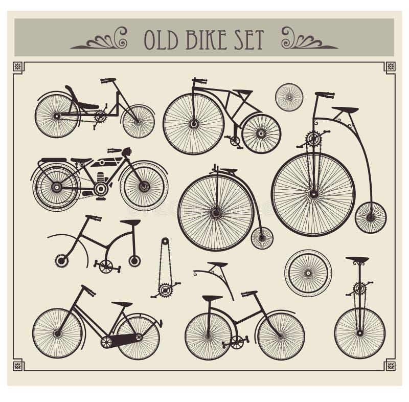 велосипед старая иллюстрация вектора