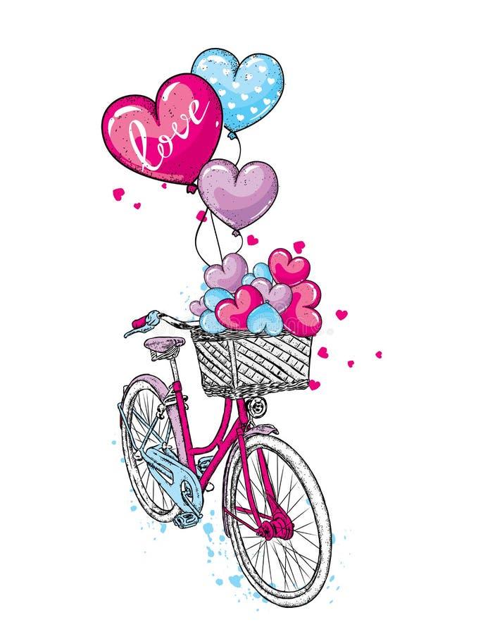 Открытки с велосипедом и шариками