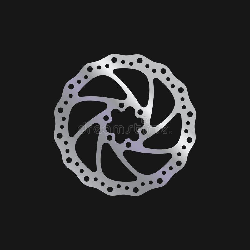 Велосипед MTB, тормозная шайба велосипеда Реалистическая иллюстрация вектора иллюстрация вектора